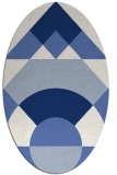 rug #1202151 | oval blue rug