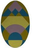 rug #1202179 | oval blue-green circles rug