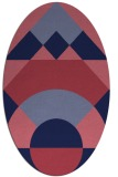 rug #1202195 | oval pink circles rug