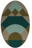 rug #1202215   oval brown graphic rug