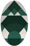 rug #1202239 | oval green abstract rug