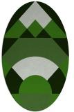 rug #1202247 | oval green circles rug