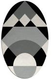 rug #1202251 | oval black geometry rug