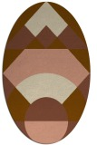 rug #1202255 | oval brown graphic rug