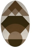 rug #1202263 | oval beige circles rug