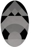 rug #1202285 | oval abstract rug