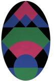 rug #1202307 | oval black graphic rug