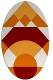 rug #1202319 | oval orange graphic rug
