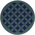 rug #120233 | round blue-green popular rug