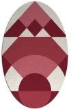 rug #1202335 | oval pink abstract rug