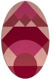 rug #1202339 | oval circles rug