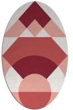 rug #1202343   oval white abstract rug