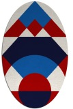 rug #1202363   oval red circles rug