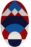 rug #1202364 | oval graphic rug