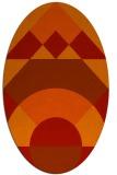 rug #1202367 | oval orange circles rug