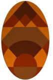 rug #1202379 | oval red-orange circles rug