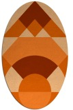 rug #1202383 | oval red-orange circles rug