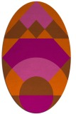 rug #1202387 | oval red-orange geometry rug