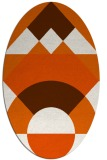 rug #1202391   oval red-orange circles rug