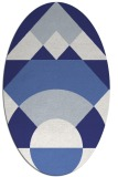 rug #1202403 | oval white abstract rug