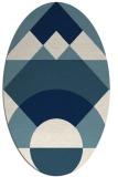 rug #1202415 | oval white circles rug