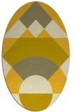 rug #1202423   oval yellow graphic rug
