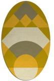 rug #1202426 | oval geometry rug