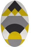 rug #1202431 | oval white geometry rug