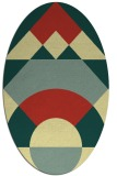 rug #1202439 | oval blue-green abstract rug