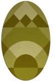 rug #1202443 | oval light-green circles rug