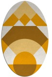 rug #1202459   oval light-orange circles rug