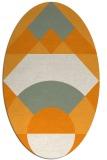 rug #1202463 | oval light-orange graphic rug