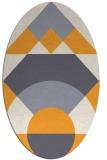 rug #1202467   oval light-orange circles rug