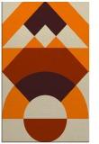 rug #1202471 |  orange abstract rug