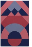 rug #1202563 |  blue-violet circles rug