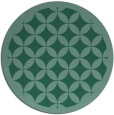 rug #120257 | round blue-green traditional rug