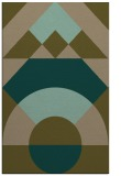 rug #1202583 |  mid-brown graphic rug