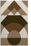 rug #1202631 |  mid-brown circles rug
