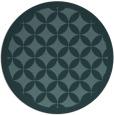 rug #120273 | round blue-green borders rug