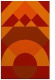 rug #1202735 |  orange circles rug