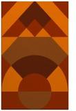 rug #1202747 |  red-orange circles rug