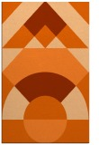 rug #1202751 |  red-orange circles rug