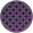 rug #120297   round purple borders rug