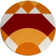 rug #1203055 | round orange abstract rug