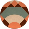 rug #1203063 | round red-orange rug