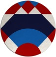 rug #1203099 | round red abstract rug