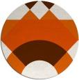 rug #1203127   round red-orange circles rug