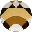 rug #1203143 | round brown abstract rug