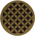 rug #120317   round black circles rug