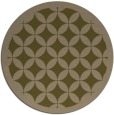 rug #120321 | round mid-brown traditional rug